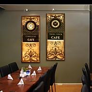 e-home® retro mønstre klokke i canvas 2pcs