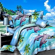 Bettbezug-Sets 3D (Zufallsmuster) 4 Stück Reaktivdruck 1 Stk. Bettdeckenbezug 2 Stk. Kissenbezüge 1 Stk. Betttuch