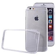 billiga Mobil cases & Skärmskydd-fodral Till Apple iPhone 6 iPhone 6 Plus Ultratunt Genomskinlig Skal Ensfärgat Mjukt TPU för iPhone 6s Plus iPhone 6s iPhone 6 Plus