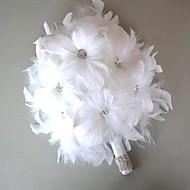"""Χαμηλού Κόστους Έκπτωση-Λουλούδια Γάμου Μπουκέτα Γάμου Δερμάτινο 4,72 """" (περίπου12εκ)"""