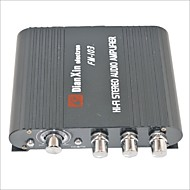 FM-103 Car Stereo Audio Amplifier with FM Function-Black