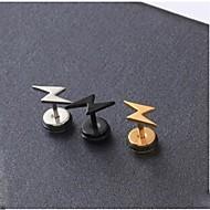 Øredobber Titanium Stål øredobber Alfabet Formet initial Smykker Svart / Sølv / Gylden Til Bryllup Fest Daglig Avslappet