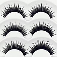 Øjenvippe Falske øjenbryn 6 pcs Volumiseret Krøllet Tyk Fiber Daglig Tyk - Makeup Daglig makeup Kosmetiske Plejemidler