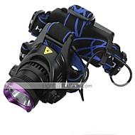 ヘッドランプ ヘッドライト LED 2200 lm 3 モード クリーXM-L2 バッテリー&チャージャー付き 充電式 防水 キャンプ/ハイキング/ケイビング 日常使用 サイクリング 狩猟 多機能 登山 旅行 運転 ワーキング