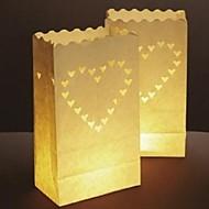 billige -stort hjerte formet utsjkering papir papir lampe (sett av 4)