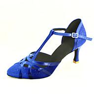 billige Moderne sko-Dame Moderne sko / Ballett Glimtende Glitter / Kunstlær Høye hæler Kustomisert hæl Kan spesialtilpasses Dansesko Sølv / Blå / Gull