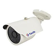 billige Overvåkningskameraer-yanse® 1000tvl 48-ledet cctv system ir vanntett kamera - hvit ys-873cf
