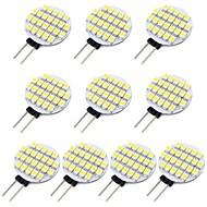 billige Spotlys med LED-10pcs 1.5 W 118 lm G4 LED-lamper med G-sokkel 24 LED perler SMD 3528 Varm hvit / Kjølig hvit 12 V / RoHs