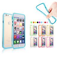 billiga Mobil cases & Skärmskydd-fodral Till Apple iPhone 6 Plus / iPhone 6 Stötsäkert fodral Enfärgad Mjukt Silikon för iPhone 6s Plus / iPhone 6s / iPhone 6 Plus