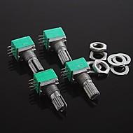 Двухместный потенциометра 6-контактный герметичный регулятор громкости регулируется потенциометром - 20k (4шт)