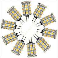 baratos Luzes LED de Dois Pinos-10pçs 2.5 W 200 lm G4 Luminárias de LED  Duplo-Pin 27 Contas LED SMD 5050 Decorativa Branco Quente / Branco Frio 12 V / RoHs