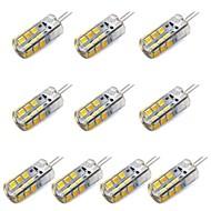tanie Więcej Kupujesz, Więcej Oszczędzasz-10pcs 1.5W 130-150 lm G4 Żarówki LED kukurydza T 24 Diody lED SMD 2835 Dekoracyjna Ciepła biel Biały DC 12V