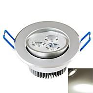 baratos Luzes LED de Encaixe-SENCART 300-350lm Lâmpada de Teto Encaixe Embutido 3PCS Contas LED COB Decorativa Branco Natural 85-265V / CE / FCC
