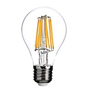 e26 / e27 ledフィラメント電球a60(a19)8コブ800lm暖かい白2800-3200k ac 220-240v