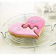 Îndrăgostiților dragoste la inima la inima Jigsaw tăietor formă cookie, din oțel inoxidabil