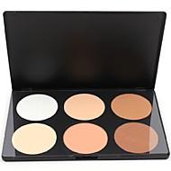 6 colores Polvos Iluminadores y Bronceadores Marcadores Seco Corrector Rostro Maquillaje Cosmético