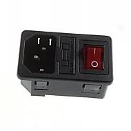 インジケータ付きDIY 3ピン10A / 250VのAC電源コンセントのヒューズホルダ