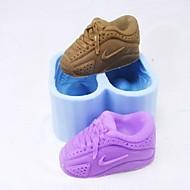 靴のペアの形のフォンダンケーキチョコレート型ケーキ型、ベーキングツール