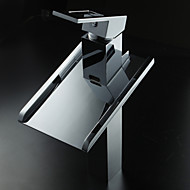 cheap Sprinkle® Faucets-Lightinthrbox  Sprinkle® Sink Faucets - Countertop Chrome Waterfall LED One Hole