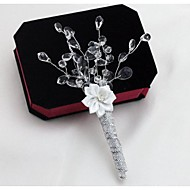 Wedding Flowers Boutonnieres Wedding Party/ Evening Satin Crystal