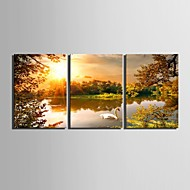 Canvas Set Landschap Traditioneel Klassiek,Drie panelen Verticaal Print Art Muurdecoratie For Huisdecoratie