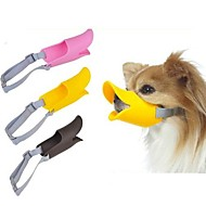 Dog Muzzle Adjustable / Retractable Anti Bark Safety Solid Silicone