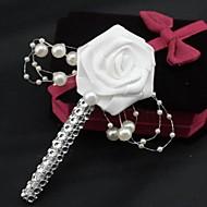 Wedding Flowers Roses Boutonnieres Wedding Party/ Evening Satin Rhinestone
