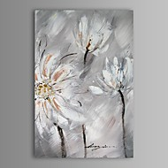 Hand-Painted Abstract / Floral/Botanical One Panel Canvas Oil Painting For Home Decoration