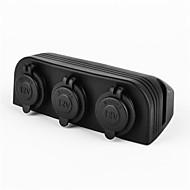 billiga Billaddare för mobilen-tre marina splitter strömadapter sockets