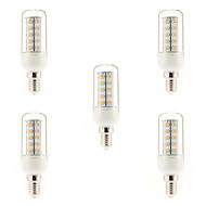 tanie Więcej Kupujesz, Więcej Oszczędzasz-5pcs 4W 400-500 lm E14 Żarówka dekoracyjna LED 36 Diody lED SMD 5730 Ciepła biel AC 220-240V