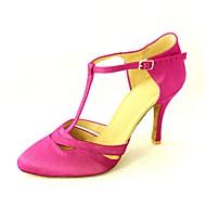 baratos Sapatilhas de Dança-Mulheres Sapatos de Dança Moderna / Dança de Salão Cetim Salto Presilha Salto Personalizado Personalizável Sapatos de Dança Amarelo / Fúcsia / Púrpura