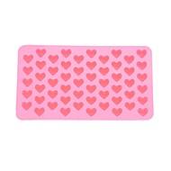저렴한 -55 슬롯 심장 모양의 실리콘 케이크 비스킷 베이킹 금형 트레이 금형 목록 bakeware (핑크)