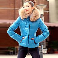 europeu forma de manga longa casaco de algodão das mulheres kakani