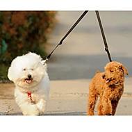 רצועות רצועות כפולות לכלבים כפול אחיד ניילון