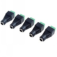 5,5 x 2,1 mm CCTV DC pistorasiat adapteri (5-pack)