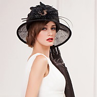 Fashion Flax And Tulle /Special Occasion/Casual Hats With Bowknot  (More Color)
