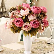 1 boeket kunstmatige pioen pioenrozen bloemen 8 hoofden zijde bloem bruiloft home party decor Europese stijl groot