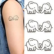 billiga Temporära tatueringar-1 pcs Tatueringsklistermärken tillfälliga tatueringar Djurserier Miljövänlig / Ny Design Body art Kropp / händer / skuldra / Tattoo Sticker
