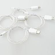 cabo led cabo micro luz do carregador cabo de dados USB para iPhone 5, iphone 6 (1m, três pés)