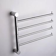 Χαμηλού Κόστους Silver Series-Κρεμάστρα Σύγχρονο Αλουμίνιο 1 τμχ - Ξενοδοχείο μπάνιο 4-μπαρ με πετσέτες