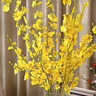 Kunstige blomster 1 Afdeling pastorale stil Orkideer Bordblomst