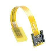 Gsm Cdma Standard Uim Sim-Kort Kit Mandlige Og Kvindelige Forlængelse Blød Flad Fpc Kabel Forlænger 10Cm