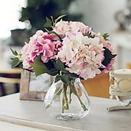 califórnia três luz flores dois hortênsias rosa escuro artificiais rosa com vaso