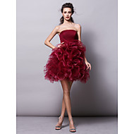Ball Gown Strapless Knee Length Tulle Prom Dress with Ruched by TS Couture®