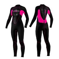 SLINX Kadın's 3mm Islak Suit Full Dalış Elbisesi Sıcak Tutma Rüzgar Geçirmez Ultravioleye Karşı Dayanıklı Giyilebilir YKK Zipper Naylon