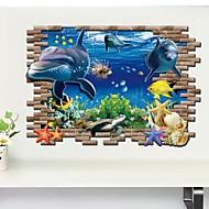 halpa -Eläimet 3D Wall Tarrat 3D-seinätarrat Koriste-seinätarrat,Vinyyli materiaali Irroitettava Kodinsisustus Seinätarra