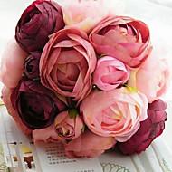 花、fushiaを保持している10絹の布シミュレーションのバラの結婚式のブーケ結婚式の花嫁のブーケ