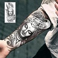 Altele Acțibilde de Tatuaj - Gri/Negru - Model - 12*19cm (4.7*7.5in) - Copil/Dame/Bărbați/Adult/Adolescent - Hârtie -