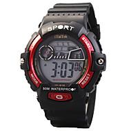 billige Quartz-Quartz Digital Digital Watch Armbåndsur Sportsur Vandafvisende LED Selvlysende Silikone Bånd Afslappet Sej Sport Sort Rød Grøn