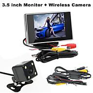 renepai® 3,5 hüvelykes monitor + vezeték nélküli, 170 ° hd autó tolatókamera + nagy felbontású, széles látószögű vízálló CMOS kamera